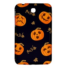 Funny Scary Black Orange Halloween Pumpkins Pattern Samsung Galaxy Tab 3 (7 ) P3200 Hardshell Case