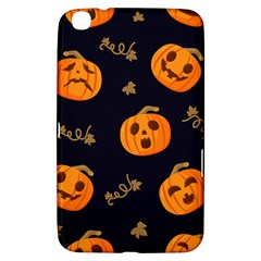 Funny Scary Black Orange Halloween Pumpkins Pattern Samsung Galaxy Tab 3 (8 ) T3100 Hardshell Case