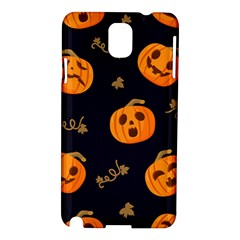 Funny Scary Black Orange Halloween Pumpkins Pattern Samsung Galaxy Note 3 N9005 Hardshell Case