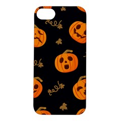Funny Scary Black Orange Halloween Pumpkins Pattern Apple Iphone 5s/ Se Hardshell Case