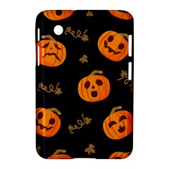 Funny Scary Black Orange Halloween Pumpkins Pattern Samsung Galaxy Tab 2 (7 ) P3100 Hardshell Case