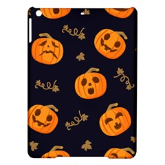 Funny Scary Black Orange Halloween Pumpkins Pattern Ipad Air Hardshell Cases