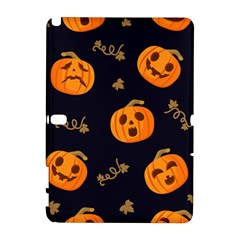 Funny Scary Black Orange Halloween Pumpkins Pattern Samsung Galaxy Note 10 1 (p600) Hardshell Case