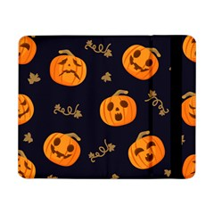 Funny Scary Black Orange Halloween Pumpkins Pattern Samsung Galaxy Tab Pro 8 4  Flip Case
