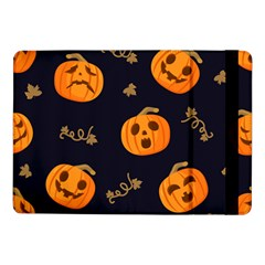 Funny Scary Black Orange Halloween Pumpkins Pattern Samsung Galaxy Tab Pro 10 1  Flip Case