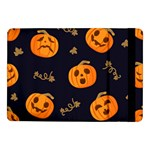 Funny Scary Black Orange Halloween Pumpkins Pattern Samsung Galaxy Tab Pro 10.1  Flip Case Front