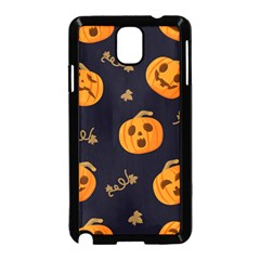 Funny Scary Black Orange Halloween Pumpkins Pattern Samsung Galaxy Note 3 Neo Hardshell Case (black)