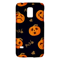 Funny Scary Black Orange Halloween Pumpkins Pattern Samsung Galaxy S5 Mini Hardshell Case