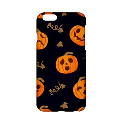 Funny Scary Black Orange Halloween Pumpkins Pattern Apple Iphone 6/6s Hardshell Case