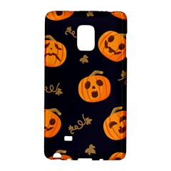 Funny Scary Black Orange Halloween Pumpkins Pattern Samsung Galaxy Note Edge Hardshell Case