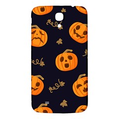 Funny Scary Black Orange Halloween Pumpkins Pattern Samsung Galaxy Mega I9200 Hardshell Back Case