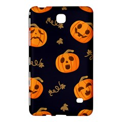 Funny Scary Black Orange Halloween Pumpkins Pattern Samsung Galaxy Tab 4 (8 ) Hardshell Case  by HalloweenParty