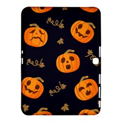 Funny Scary Black Orange Halloween Pumpkins Pattern Samsung Galaxy Tab 4 (10 1 ) Hardshell Case