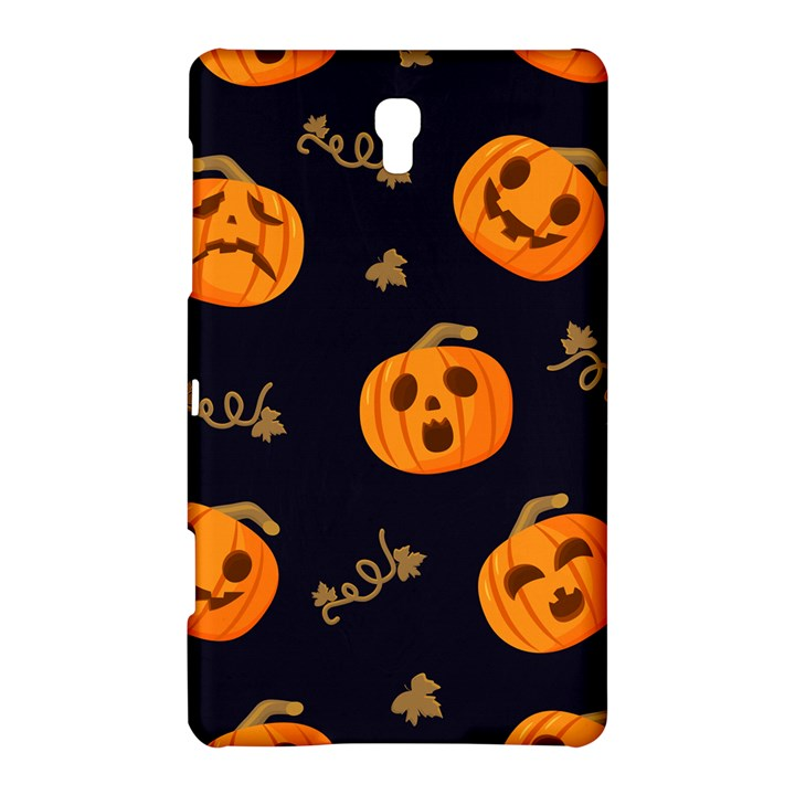 Funny Scary Black Orange Halloween Pumpkins Pattern Samsung Galaxy Tab S (8.4 ) Hardshell Case