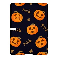Funny Scary Black Orange Halloween Pumpkins Pattern Samsung Galaxy Tab S (10 5 ) Hardshell Case