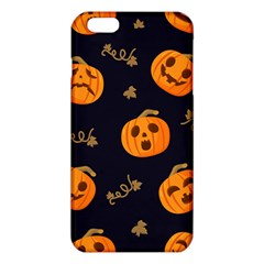 Funny Scary Black Orange Halloween Pumpkins Pattern Iphone 6 Plus/6s Plus Tpu Case by HalloweenParty