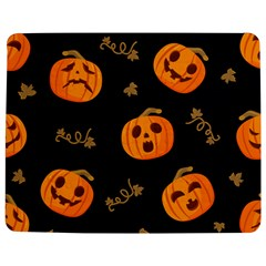 Funny Scary Black Orange Halloween Pumpkins Pattern Jigsaw Puzzle Photo Stand (rectangular)