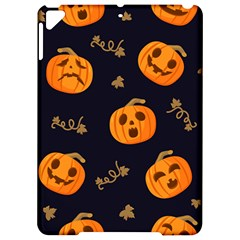 Funny Scary Black Orange Halloween Pumpkins Pattern Apple Ipad Pro 9 7   Hardshell Case