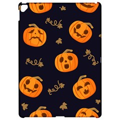 Funny Scary Black Orange Halloween Pumpkins Pattern Apple Ipad Pro 12 9   Hardshell Case