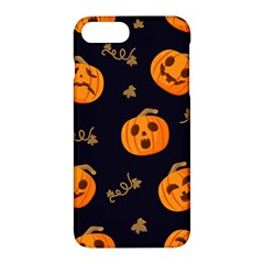 Funny Scary Black Orange Halloween Pumpkins Pattern Apple Iphone 7 Plus Hardshell Case