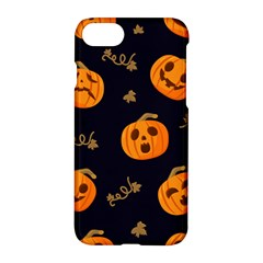Funny Scary Black Orange Halloween Pumpkins Pattern Apple Iphone 7 Hardshell Case