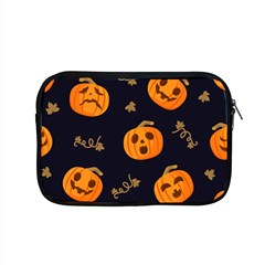 Funny Scary Black Orange Halloween Pumpkins Pattern Apple Macbook Pro 15  Zipper Case