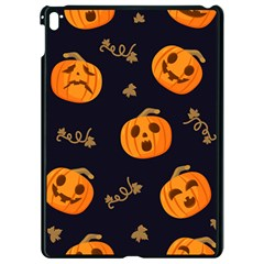 Funny Scary Black Orange Halloween Pumpkins Pattern Apple Ipad Pro 9 7   Black Seamless Case