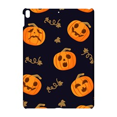 Funny Scary Black Orange Halloween Pumpkins Pattern Apple Ipad Pro 10 5   Hardshell Case