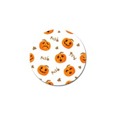 Funny Spooky Halloween Pumpkins Pattern White Orange Golf Ball Marker (10 Pack)