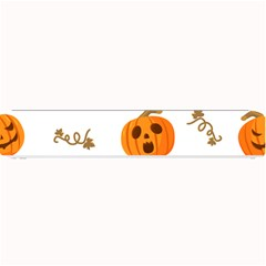 Funny Spooky Halloween Pumpkins Pattern White Orange Small Bar Mats