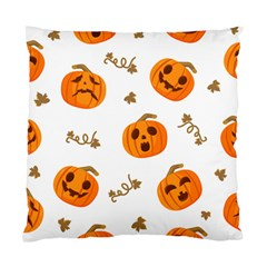Funny Spooky Halloween Pumpkins Pattern White Orange Standard Cushion Case (two Sides)