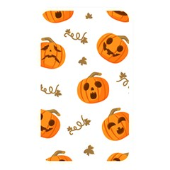 Funny Spooky Halloween Pumpkins Pattern White Orange Memory Card Reader (rectangular)