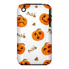 Funny Spooky Halloween Pumpkins Pattern White Orange Iphone 3s/3gs