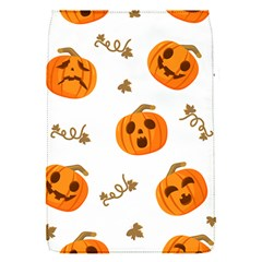 Funny Spooky Halloween Pumpkins Pattern White Orange Removable Flap Cover (s)