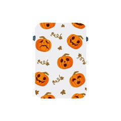 Funny Spooky Halloween Pumpkins Pattern White Orange Apple Ipad Mini Protective Soft Cases