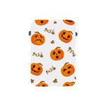 Funny Spooky Halloween Pumpkins Pattern White Orange Apple iPad Mini Protective Soft Cases Front