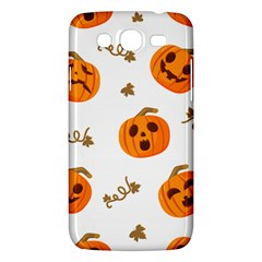 Funny Spooky Halloween Pumpkins Pattern White Orange Samsung Galaxy Mega 5 8 I9152 Hardshell Case