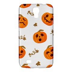 Funny Spooky Halloween Pumpkins Pattern White Orange Samsung Galaxy Mega 6 3  I9200 Hardshell Case