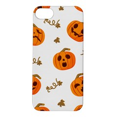 Funny Spooky Halloween Pumpkins Pattern White Orange Apple Iphone 5s/ Se Hardshell Case