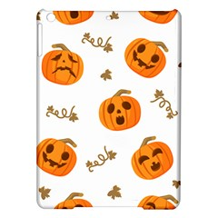 Funny Spooky Halloween Pumpkins Pattern White Orange Ipad Air Hardshell Cases by HalloweenParty