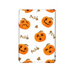 Funny Spooky Halloween Pumpkins Pattern White Orange Ipad Mini 2 Hardshell Cases