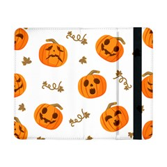 Funny Spooky Halloween Pumpkins Pattern White Orange Samsung Galaxy Tab Pro 8 4  Flip Case