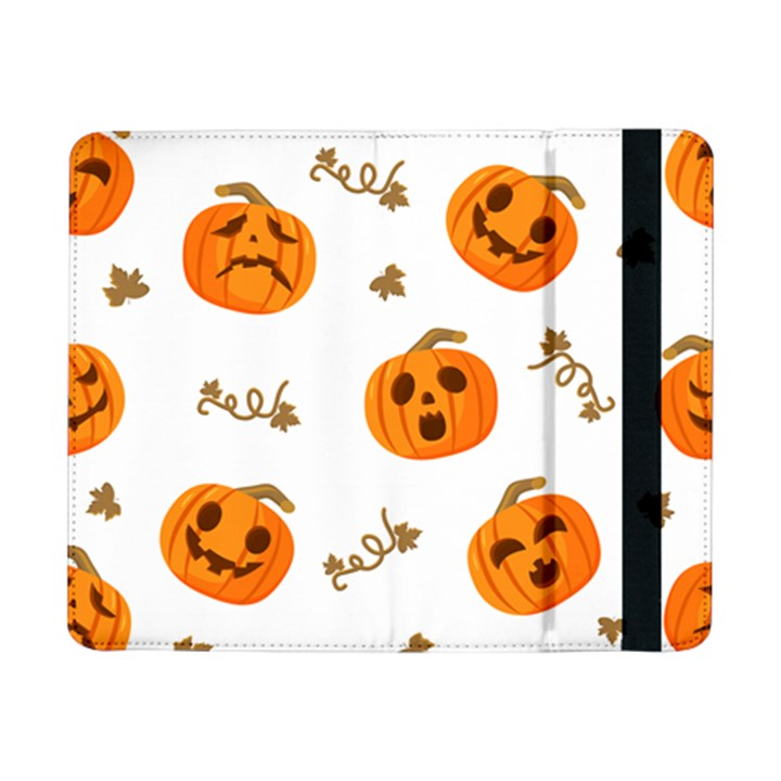 Funny Spooky Halloween Pumpkins Pattern White Orange Samsung Galaxy Tab Pro 8.4  Flip Case