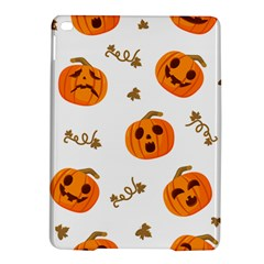 Funny Spooky Halloween Pumpkins Pattern White Orange Ipad Air 2 Hardshell Cases