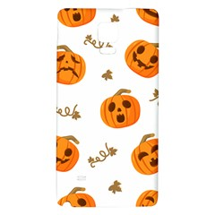 Funny Spooky Halloween Pumpkins Pattern White Orange Samsung Note 4 Hardshell Back Case
