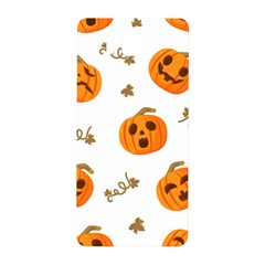 Funny Spooky Halloween Pumpkins Pattern White Orange Samsung Galaxy Alpha Hardshell Back Case