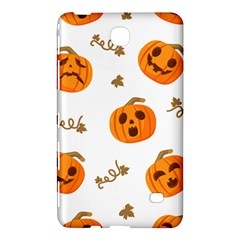Funny Spooky Halloween Pumpkins Pattern White Orange Samsung Galaxy Tab 4 (7 ) Hardshell Case