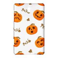 Funny Spooky Halloween Pumpkins Pattern White Orange Samsung Galaxy Tab S (8 4 ) Hardshell Case