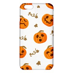 Funny Spooky Halloween Pumpkins Pattern White Orange Iphone 6 Plus/6s Plus Tpu Case
