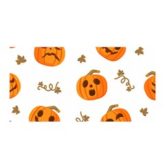 Funny Spooky Halloween Pumpkins Pattern White Orange Satin Wrap